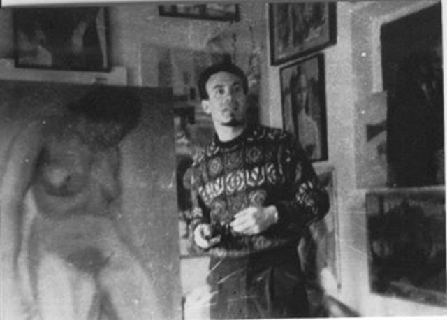 Daniel Schinasi in his studio 1960