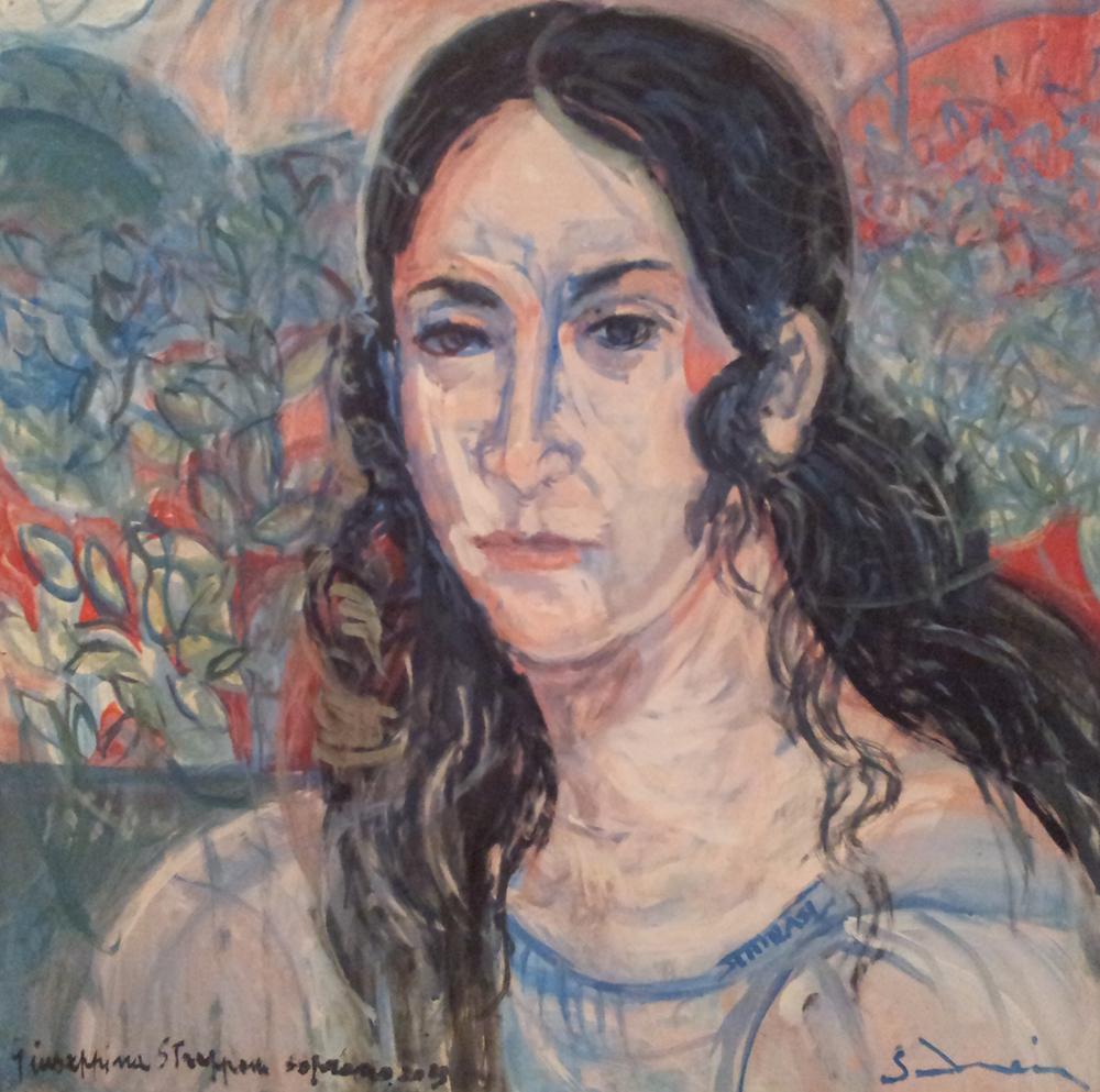 """""""Soprano Giuseppina Strepponi"""" cm 80 x 80 - 2013"""