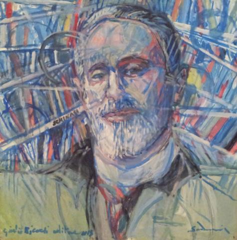 """""""Publisher, Giulio Ricordi"""" cm 80 x 80, 2013"""