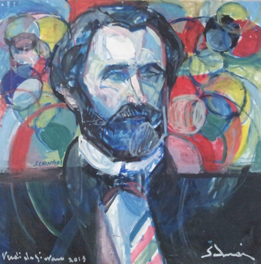 """The Young Giuseppe Verdi"" 2013 cm 80 x 80 Price: $ 25,000.00"