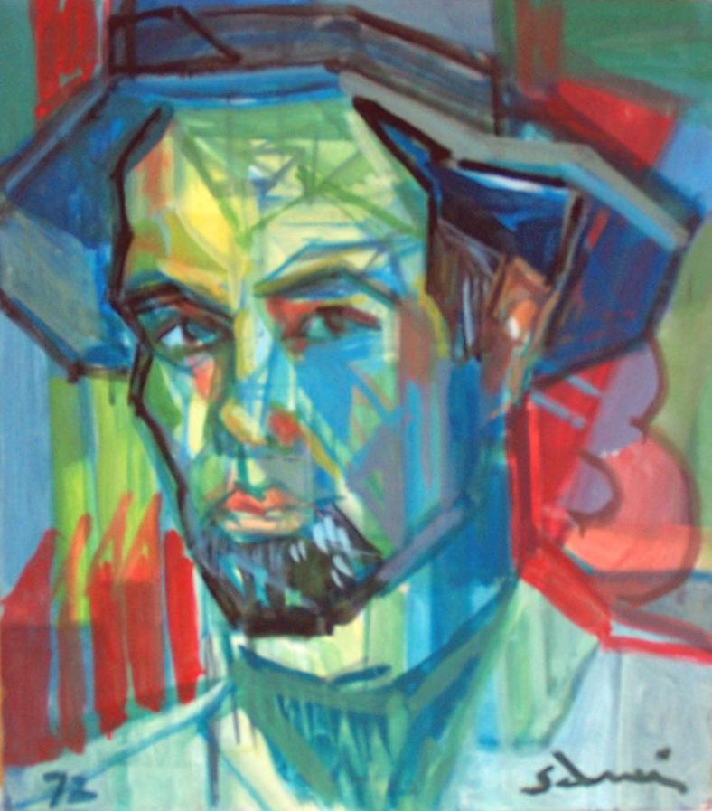 """""""Auto-portrait"""" cm. 37 x 42, 1972"""