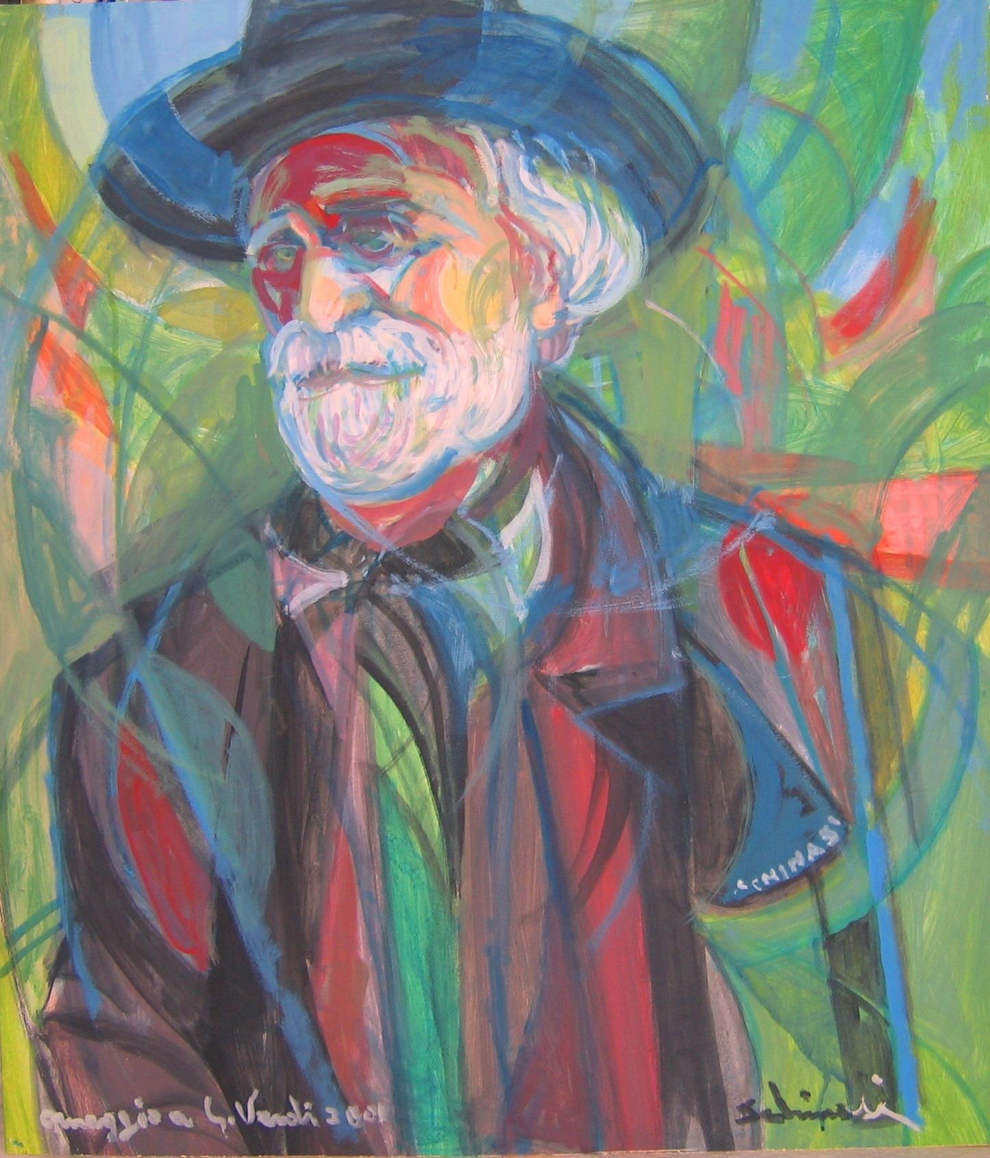 """""""Verdi"""" (Omaggio a Verdi)  cm76 x 66 - 2001"""