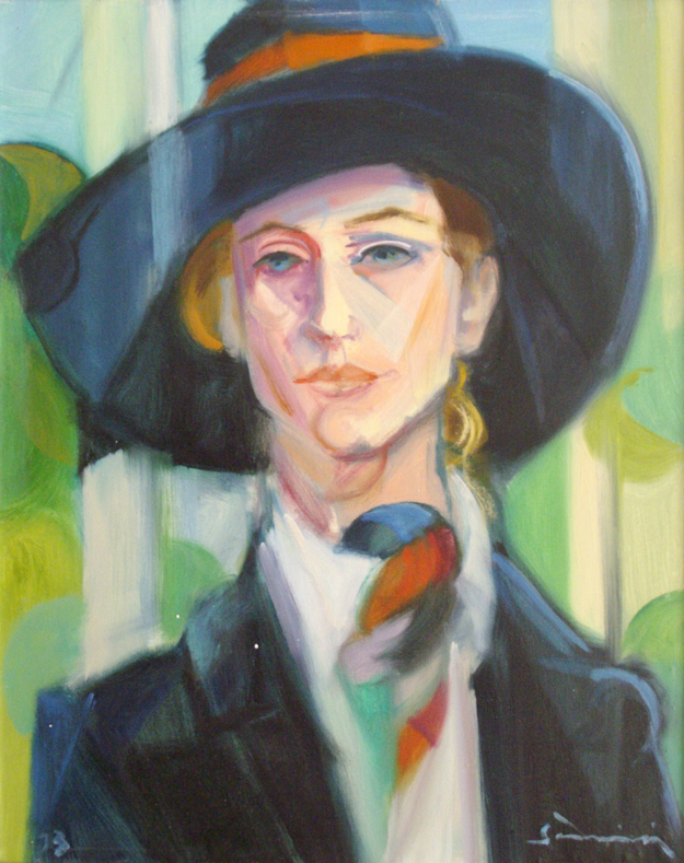 """Woman with hat"" 1973 - (Private Collection)"