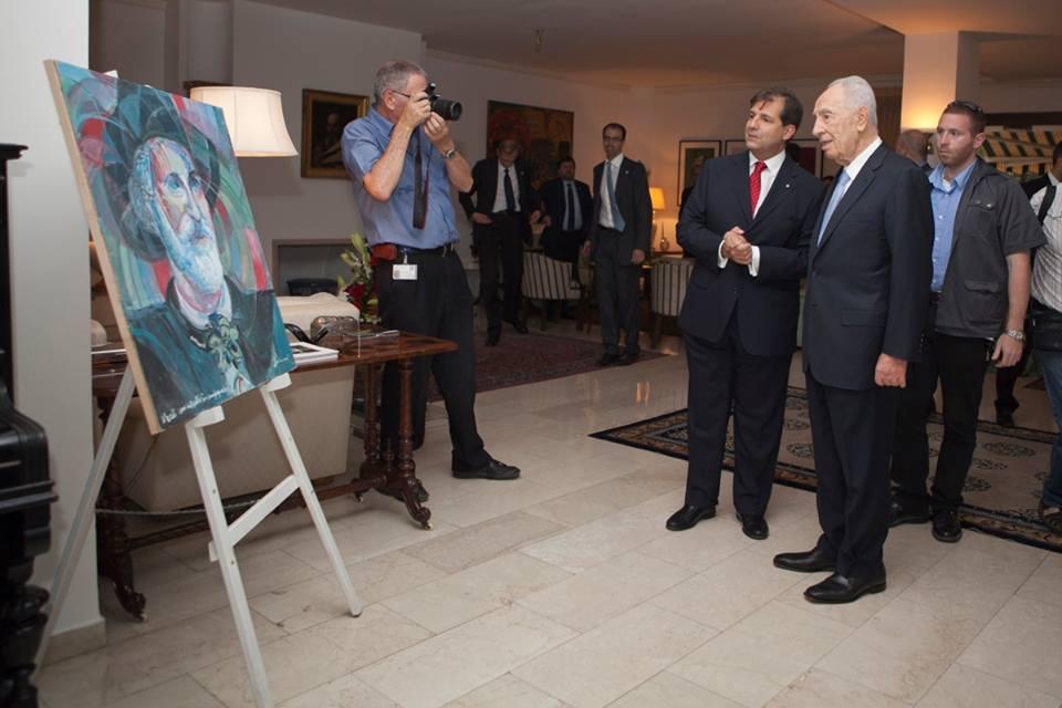 Italian Ambassador in Israel Maria Talo with R.I.P former President of Israel Shimon Peres