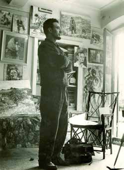 Daniel in his art studio in Livorno