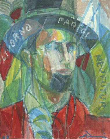 """""""Autoportrait"""" (Autoritratto) cm 40 x 50 -1969"""