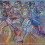 """Athletes – Schinasi Neofuturism"" cm 100 x 130 - 1990"