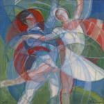 """""""Balletto dell' Opera Nizza"""" (Dancers of Nice's Opera) 2008 - cm 80x80"""