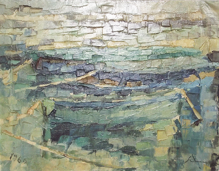 """Boats"" 1969 - (Private Collection)"