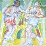 """Boxing"" 2002 cm 80 x 85 (Tempera masonite) $ 28,000"