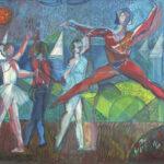 """Balletto"" (Dance) - cm 61 x 50.5 - 1982"