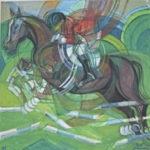 """Horse riding"" 1999 cm 80 x 85 - $ 30,000"