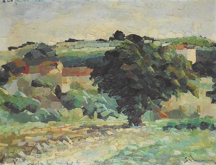 """Fig Tree in Antignano"" cm80x80, 1960 - (Private Collection)"