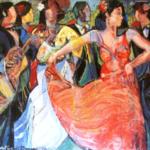 """Flamenco Dancer with Guitar Player"" cm100x130, 2012 - Price: $35,000"