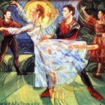 """""""Etude des danseurs de l Opera de Nice"""" 1995 cm 52x44"""