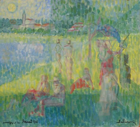 """Tribute to Seurat"" 1960/61 (Private Collection)"