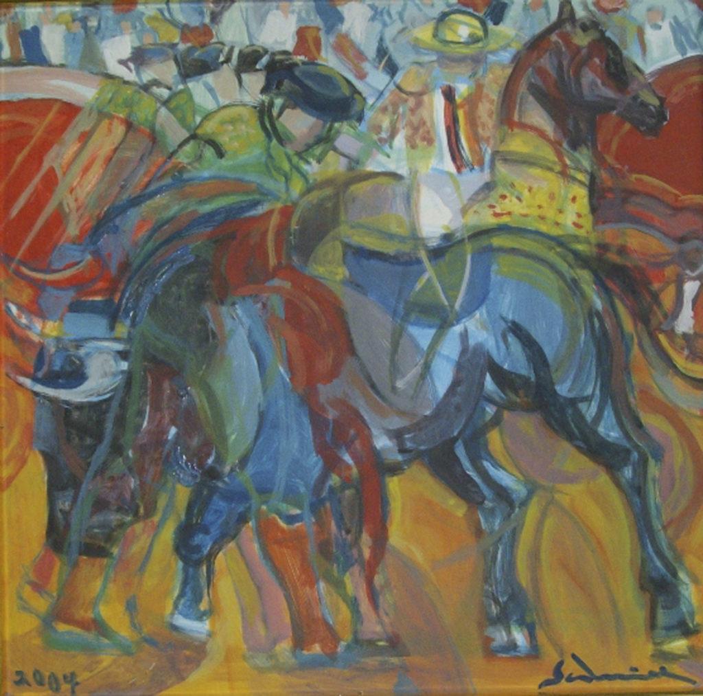 """""""Corrida"""" 2004 cm 46,7 x 48,5 - $ 15,000"""