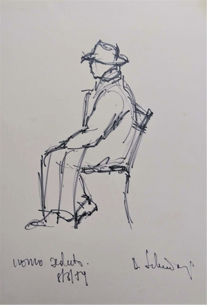 """Seated man"" 1959"