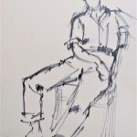 """""""Study of a seated person"""" 1959"""