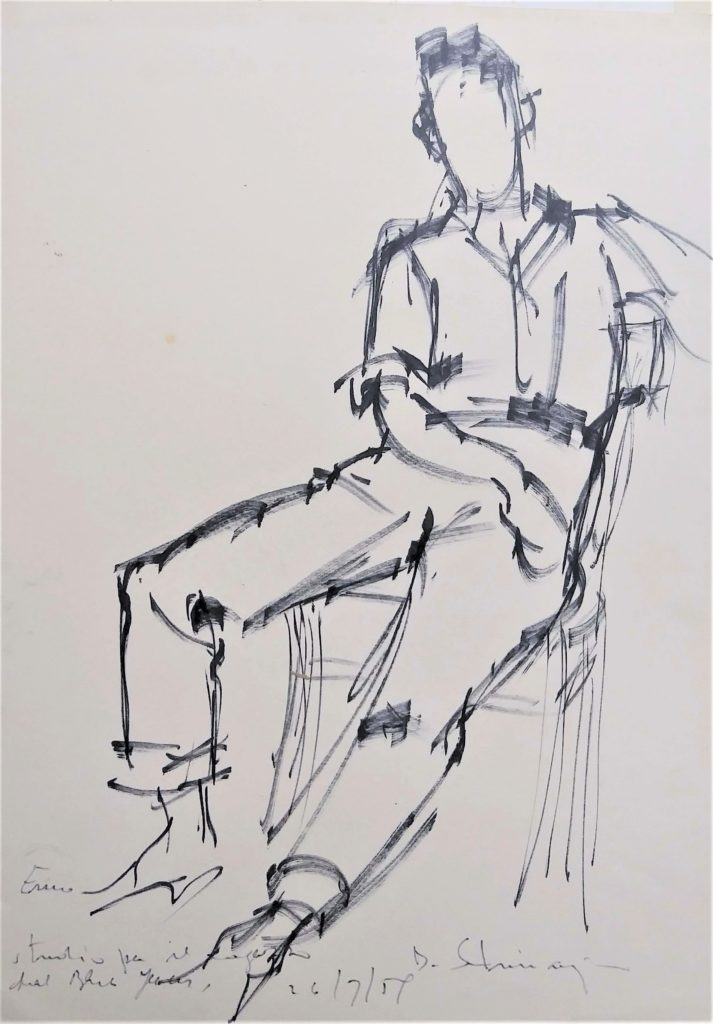 """Study of a seated person"" 1959"
