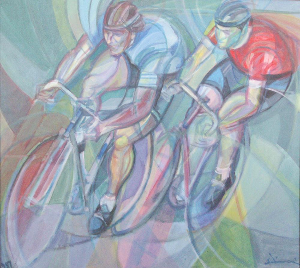 """""""Bikers""""  1987/88 - 70 x 78 cm"""