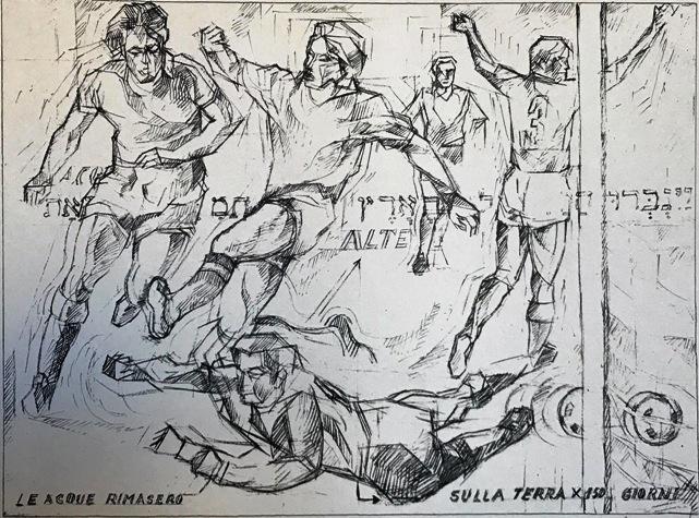 """""""Il Calcio"""" – Litografia in Bianco e Nero"""