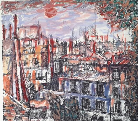 """""""I tetti di Parigi"""" – Tecnica Mista a Colori"""