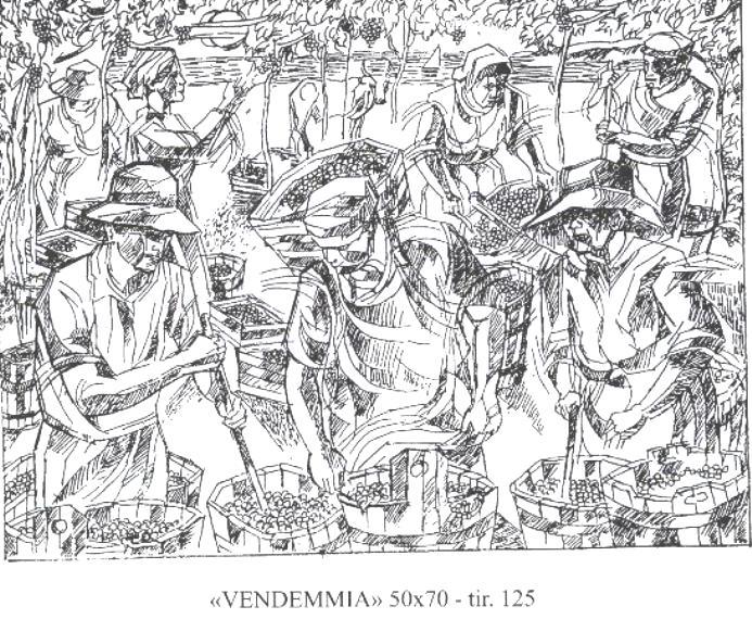 """""""La Vendemmia"""" – Litografia in Bianco e Nero 2018"""