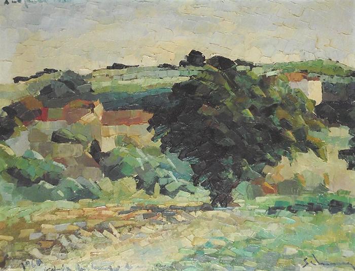 """""""Fig Tree in Antignano"""" cm80x80, 1960 - (Private Collection)"""