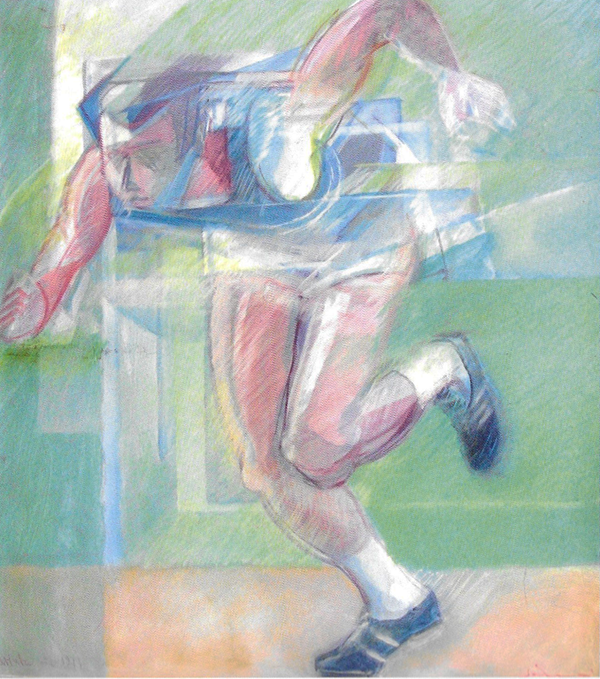 """""""Omaggio a Mennea"""" 1977 cm90x80"""