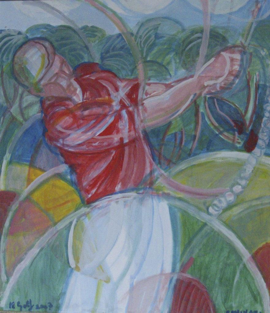 """Golf"" 2007 - cm 80 x 70 - $ 25,000"
