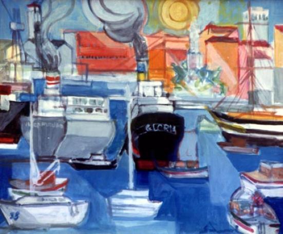 """""""Livorno Harbor"""" 1993"""