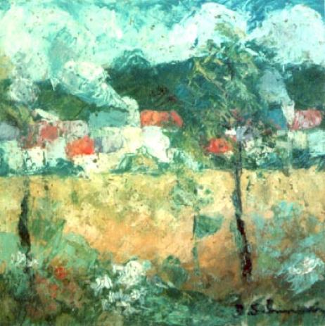 """""""Landscape"""" 1959 (Private Collection)"""