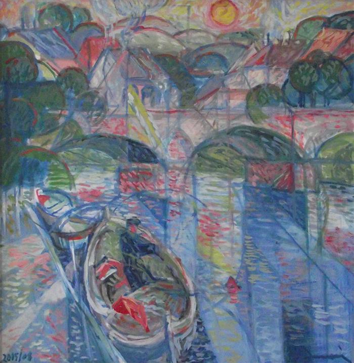 """"""" Barca sul fiume"""" 2005/08"""