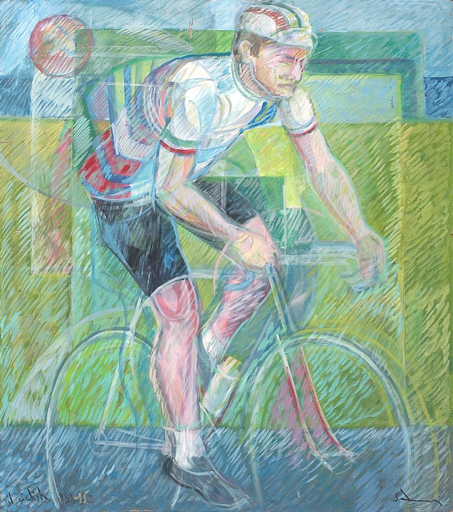 """""""Il ciclista"""" 1983/95 - cm 90x80"""