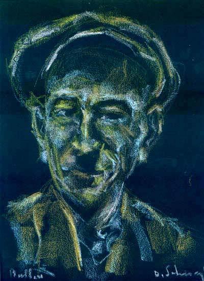 """Peasant's portrait""  22x30cm1959"